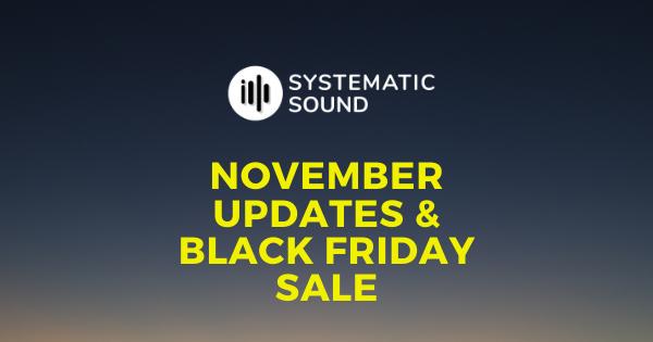 November Updates & Black Friday Sale 2020